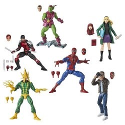 Marvel Legends Retro Spider-Man  Set De 6 Figurines