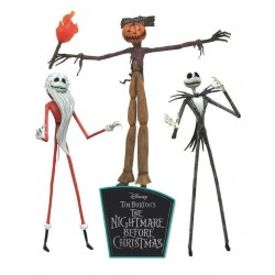 L'Étrange Noël de monsieur Jack pack 3 figurines The Jobs of Jack Skellington 18 cm