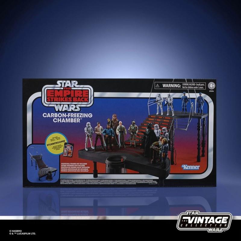 Star Wars Episode V Vintage Collection Carbon-Freezing Chamber et figurine Stormtrooper 10 cm