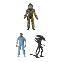 Alien assortiment figurines 18 cm 40th Anniversary série 3 Kane - Ash & Xenomorph