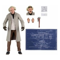 Retour vers le futur figurine Ultimate Doc Brown 18 cm