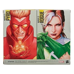 X-Men Marvel Legends pack 2 figurines Marvel's Rogue & Marvel's Pyro 15 cm