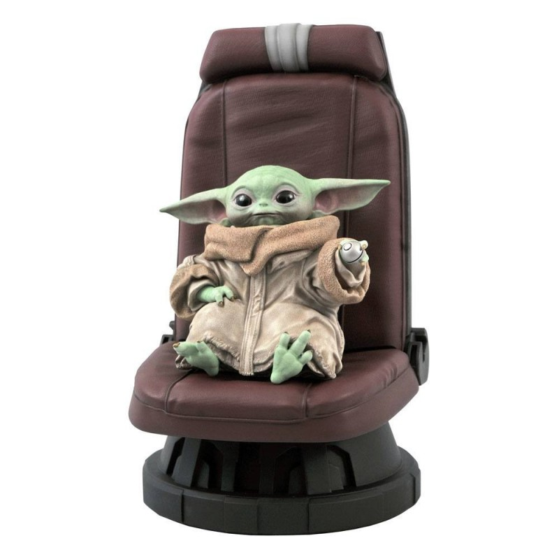 Star Wars The Mandalorian statuette Premier Collection 1/2 The Child in Chair 30 cm