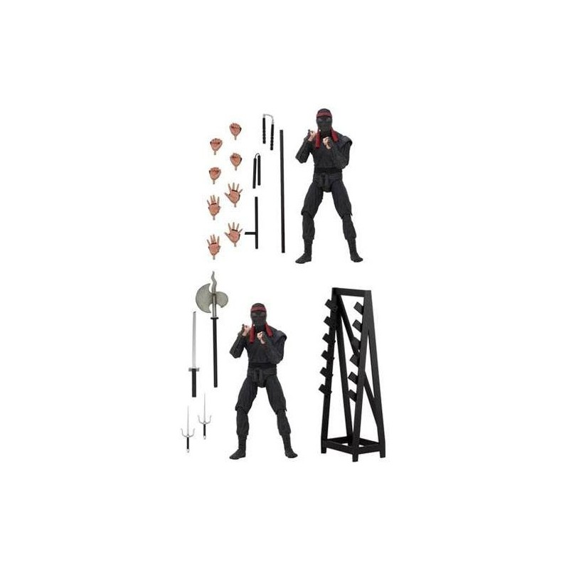 Les Tortues ninja pack 2 figurines Foot Soldiers with Weapons Rack 18 cm