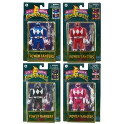 Set de 4 Figurines Power Rangers Retro 15 cm