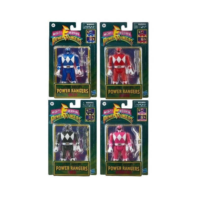 Set de 4 Figurines Power Rangers Retro 15 cm