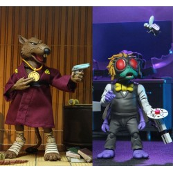Les Tortues ninja pack 2 figurines Splinter & Baxter 18 cm