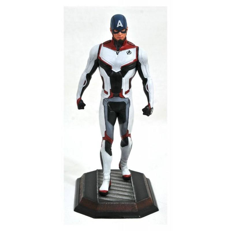 Avengers Endgame Marvel Movie Gallery statuette Team Suit Captain America Exclusive 23 cm
