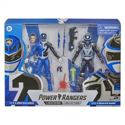 Power Rangers Lightning Collection 2021 S.P.D. B-Squad Blue Ranger vs. S.P.D. A-Squad Blue Ranger