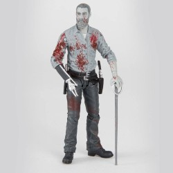 The Walking Dead figurine Rick (Bloody B&W) 15 cm