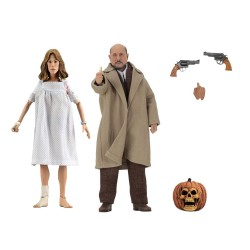 Halloween 2 : Le Masque pack 2 figurines Retro Doctor Loomis & Laurie Strode 20 cm