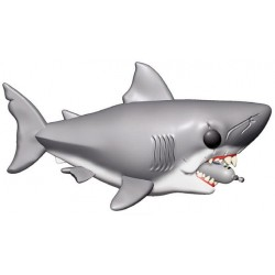 Les Dents de la mer Oversized POP! Movies Vinyl figurine Jaws with Diving Tank 15 cm