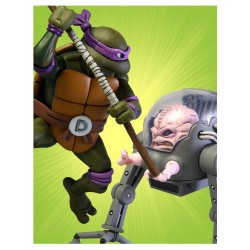 Les Tortues ninja pack 2 figurines Donatello vs Krang in Bubble Walker 18 cm