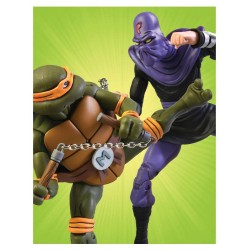 Les Tortues ninja pack 2 figurines Michelangelo vs Foot Soldier 18 cm